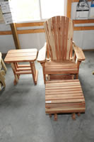 adarondak chair and footstool