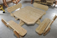 Jam wood products llc online catalog gallery jam wood products picnic table 4 sided with back support watchthetrailerfo